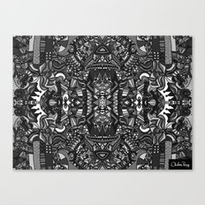 King of the City Black and White Canvas Print