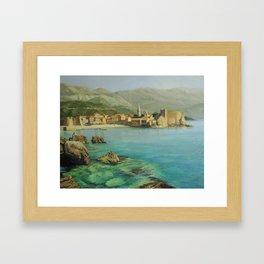 Bay Near Old Budva Framed Art Print