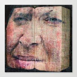 Bookface Canvas Print