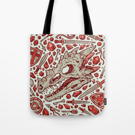 Hoard of the Gem Dragon | Ruby Tote Bag
