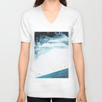 swim V-neck T-shirts featuring Teal Swim by Stoian Hitrov - Sto