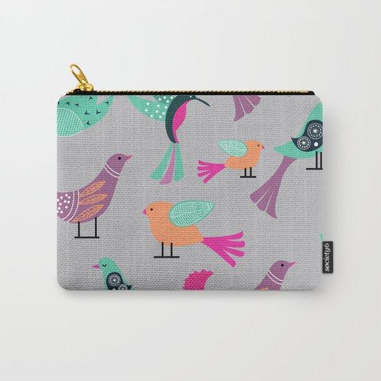 Birds Pattern #society6 #decor #buyart #illustration Carry-All Pouch