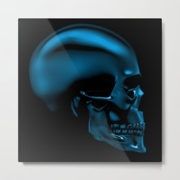 Glass skull Metal Print
