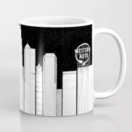 Kansas City Skyline at Night Coffee Mug