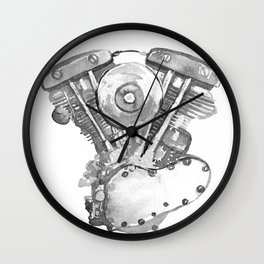 Vintage Harley Shovelhead Motorcycle Engine Wall Clock