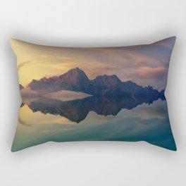 Fantasy mountain reflection Rectangular Pillow