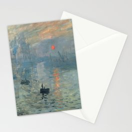 Claude Monet – Impression soleil levant – impression sunrise Stationery Cards