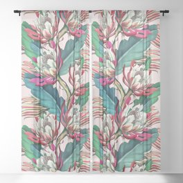 Flowering cactus IV Sheer Curtain