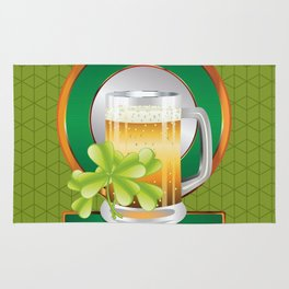Beer and clover Rug