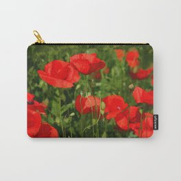 Wild poppy meadow painted in pc Carry-All Pouch