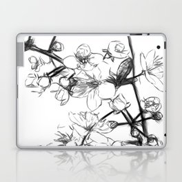 Cherry Blossoms Minimal Drawing Laptop & iPad Skin