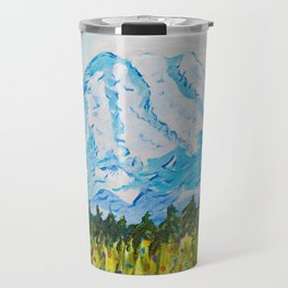 Mt. Rainier Washington Travel Mug