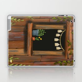 sunny day cabin in the woods Laptop & iPad Skin