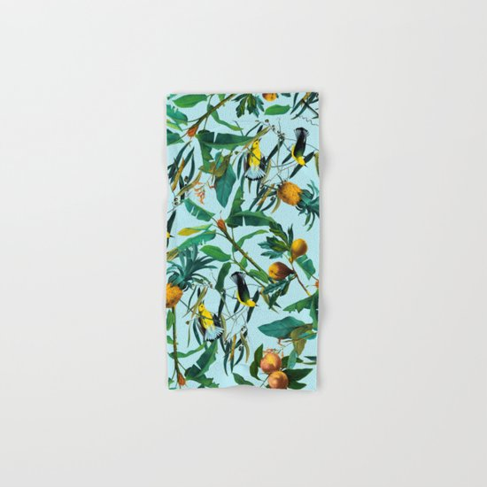 Fruit and Birds Pattern Hand & Bath Towel