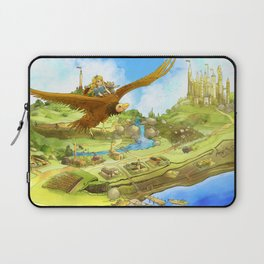 Flying On Polly Over an Enchanted Land Laptop Sleeve
