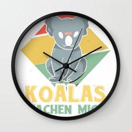 Koalas make me happy vintage Wall Clock