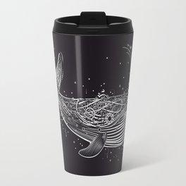 white whale in the ocean Travel Mug