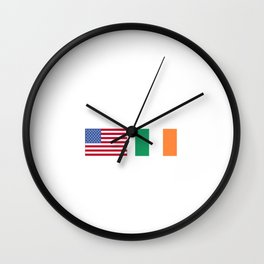Made In American With Irish Parts Wall Clock