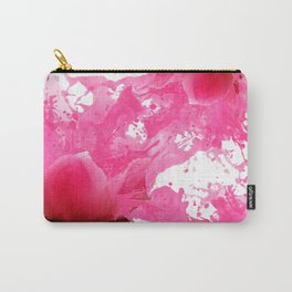 Girly fuchsia watercolor splatters flowers pattern  Carry-All Pouch