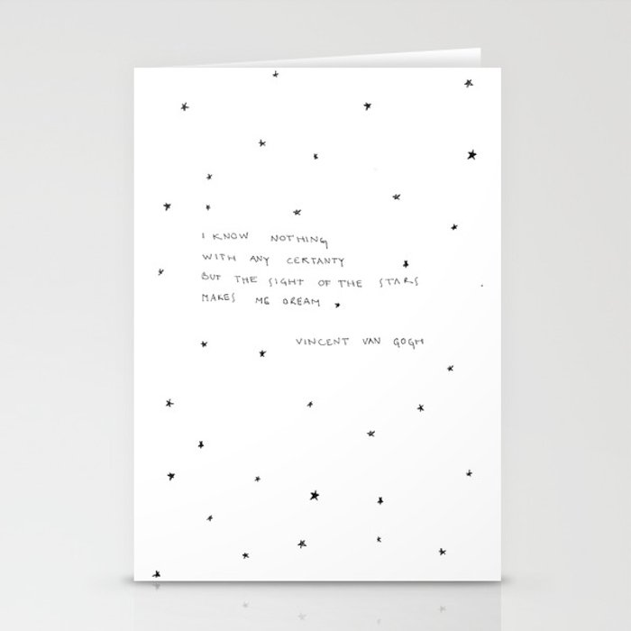 sight of the stars makes me dream Stationery Cards