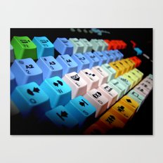 television video montage editing keyboard Canvas Print
