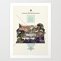 island Art Prints featuring island Vacation by Dawn Gardner