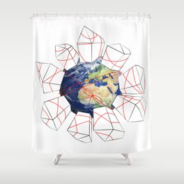 Wrapped to a Warped World Shower Curtain