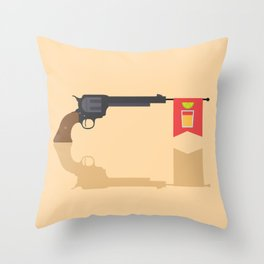 Shots Fired!!! Throw Pillow