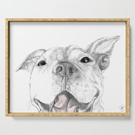 Whaddup :: A Pit Bull Smile Serving Tray