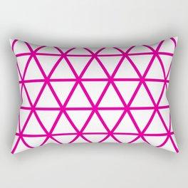 Pink Triangle Pattern 2 Rectangular Pillow