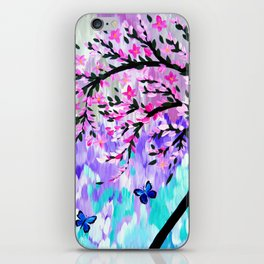 cherry blossom with Ulysses butterflies iPhone Skin