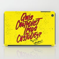 watchmen iPad Cases featuring Watchmen by Chelsea Herrick