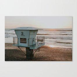 Lifeguard Station at Sunset Canvas Print