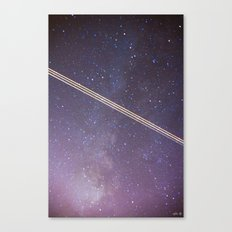 Boeing through the Milky Way Canvas Print