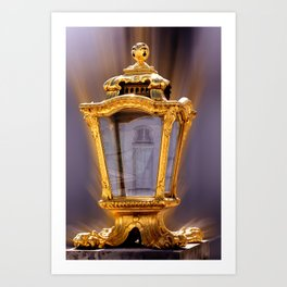 Castle Nympfenburg Munich : The golden Lantern Art Print