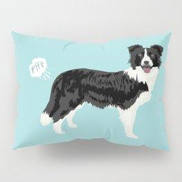 Border Collie dog breed funny dog fart Pillow Sham