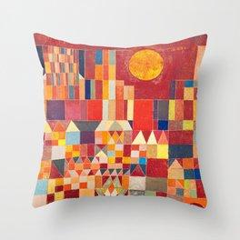 Burg und Sonne 1928 - Paul Klee Throw Pillow