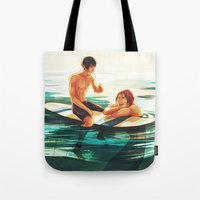 viria Tote Bags featuring rinharu by viria