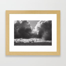 Dramatic Clouds Photograph Framed Art Print