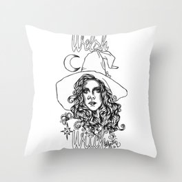 Welsh Witch Throw Pillow