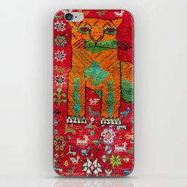 Antique Persian Hunting Rug With Lion Print iPhone Skin