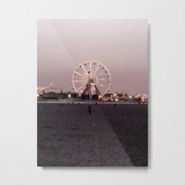 Farris Wheel at Night Metal Print