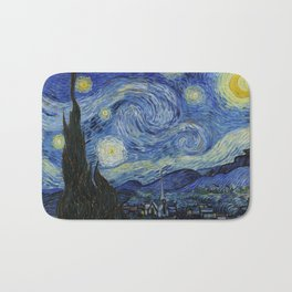 Starry Night by Vincent van Gogh Bath Mat
