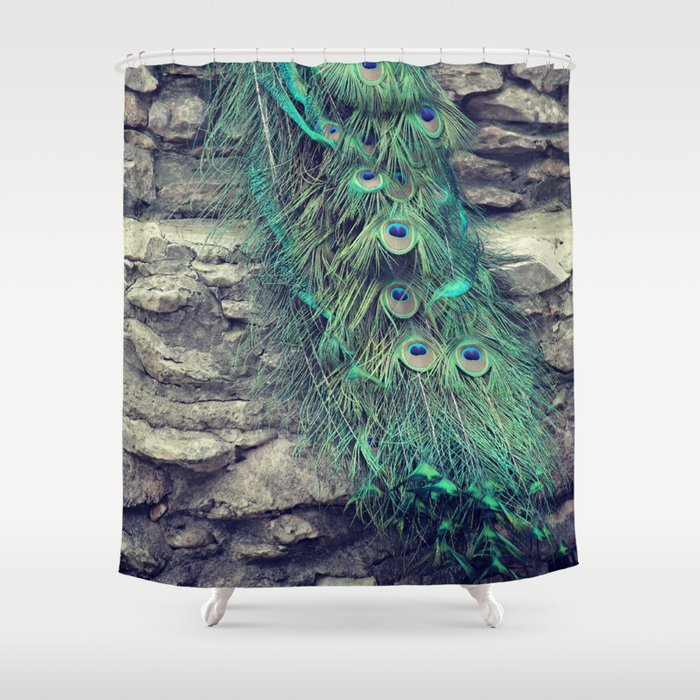 Peacock Shower Curtain By Kunstfabrik