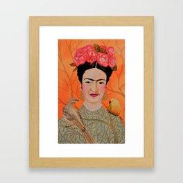 frida a coyoacan Framed Art Print