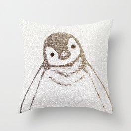 The Little Intellectual Penguin Throw Pillow