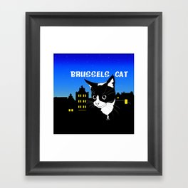 Brussels Cat, Chat de Bruxelles, Belgium Cat. Framed Art Print
