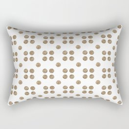 copper and white dots Rectangular Pillow