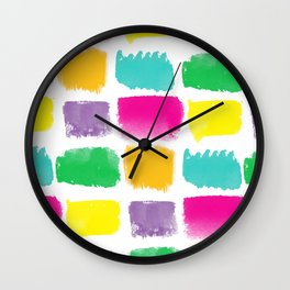 (Brush)Stroke of Genius Wall Clock