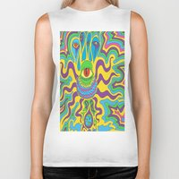 trippy Biker Tanks featuring trippy by Mik3c0utur3